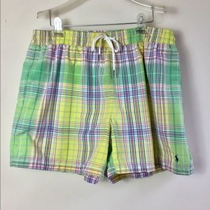 Ralph Lauren POLO pastel Madras swim trunks XL